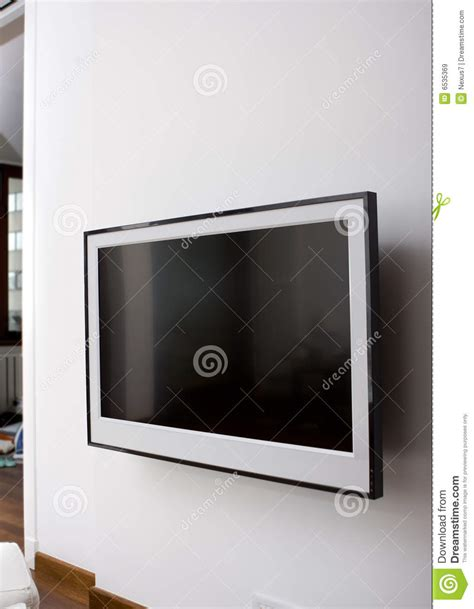 Lcd Tv Wall lcd tv on a wall royalty free stock images image 6535369