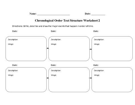 labeling chronological order text structure worksheet