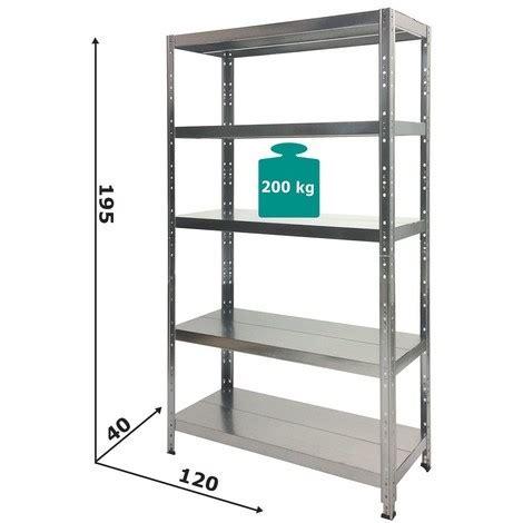 scaffale zincato scaffale alta portata in metallo zincato 120 x 40 x 195h