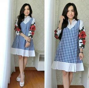 Baju Dress Fashion Wanita Motif baju mini dress pendek fashion wanita lengan panjang motif