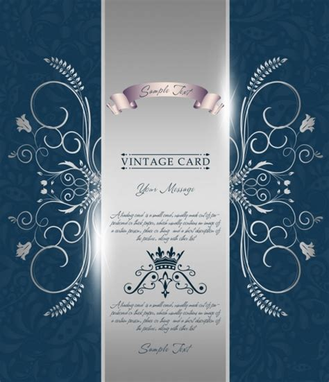 shiny card template card decorative template shiny silver decor classical