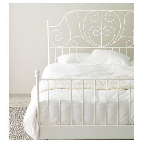 Ikea Bed by Leirvik Bed Frame White Leirsund 140x200 Cm Ikea