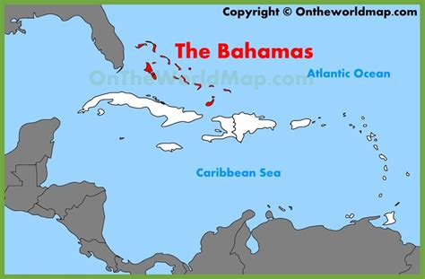 where is the bahamas on the world map the bahamas location on the caribbean map