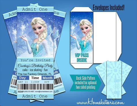 printable frozen movie ticket invitations 4 best images of printable movie ticket party invitation