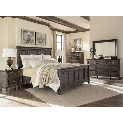 calistoga charcoal  piece cal king bedroom set