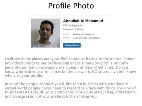 expose your self by your professional profile