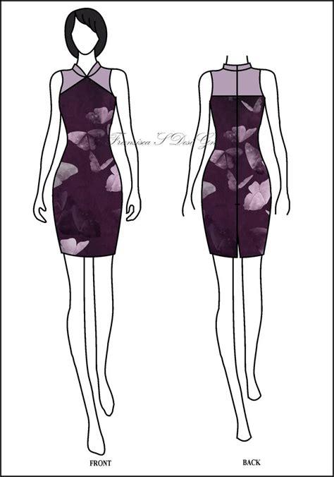 Dress Cheongsam Modern Batik Cheongsam Dress Shanghai Dress 17 best images about sketsa busana casual fransisca s