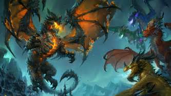 World of warcraft art fantasy deathwing cataclysm wallpapers