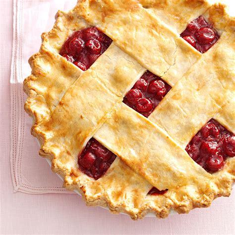 cherry pie rubber sts tart cherry lattice pie recipe taste of home