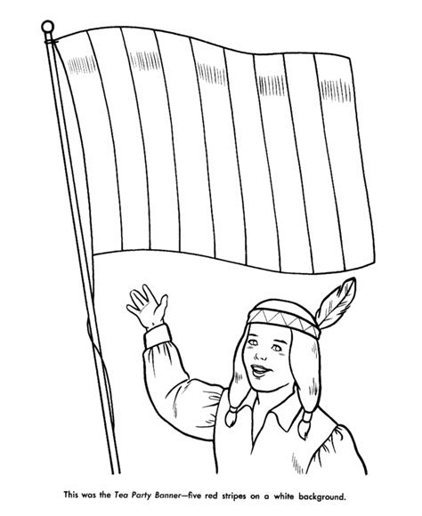 Boston Tea Party Coloring Page Coloring Home Boston Tea Coloring Page