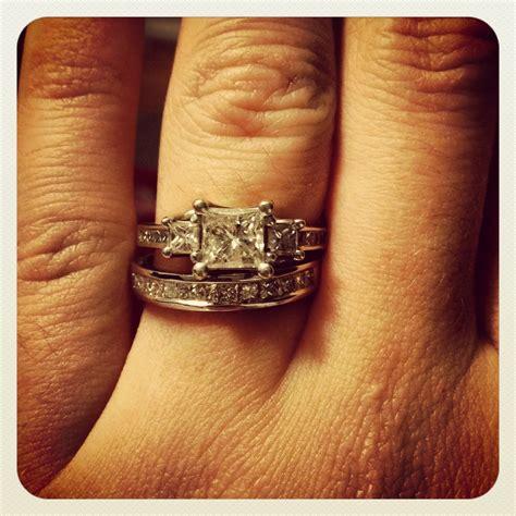 Set Avian Chenel channel set rings let me see em weddingbee