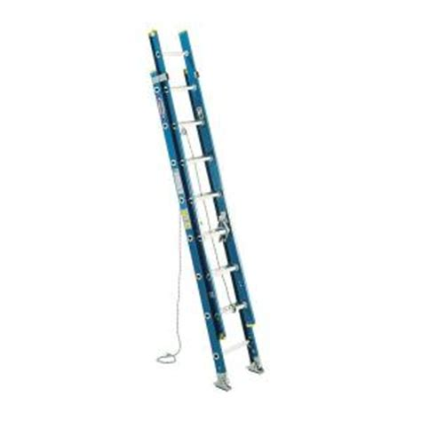 Extension Ladders At Home Depot by Werner 16 Ft Fiberglass D Rung Extension Ladder With 250