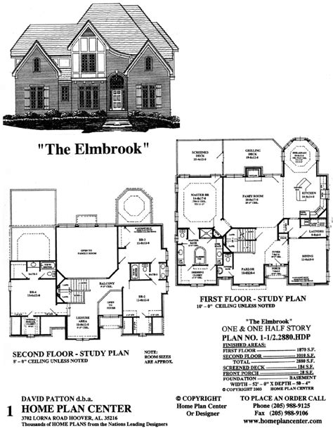 story and half house plans home plan center 1 1 2 2880 elmbrook