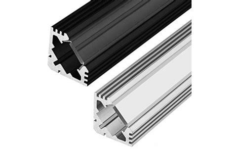 Diskon Housing Rigid Aluminium Etalase 45 Degree corner accent aluminum profile housing for led lights klus 45 alu series led profile
