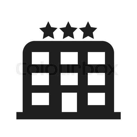 design icon by hotel hotel 3 star hotel icon illustration design stock vector