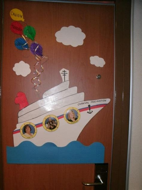 decorating cruise cabin doors is not new we are just offering a way to make your experience