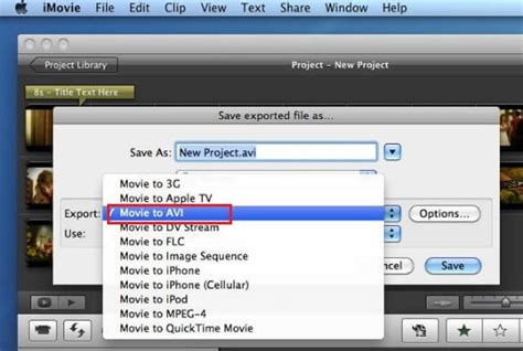 format converter to avi simple way to convert and export imovie project to avi in