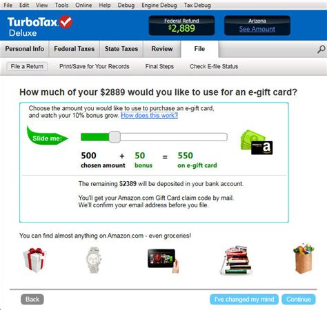 Can You Refund Amazon Gift Cards - amazon com turbotax deluxe fed efile state 2013 refund bonus offer old version