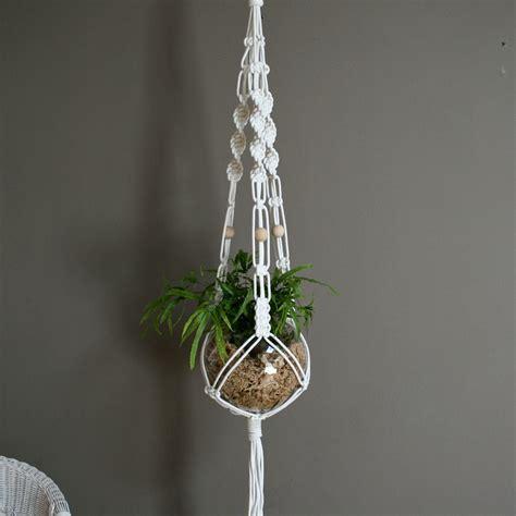 Macrame Pot Holder Pattern - the knot studio white macrame plant hanger macram 233