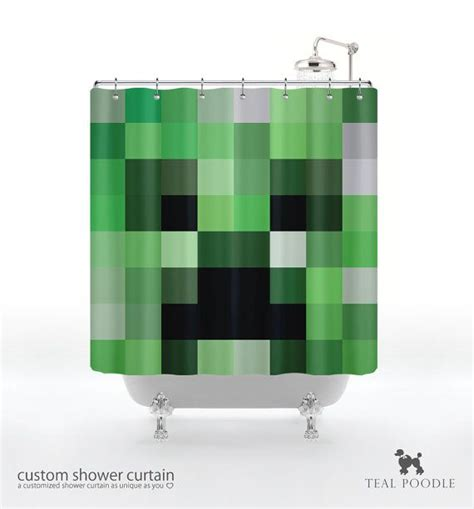 curtains in minecraft minecraft creeper shower curtain geekster mine craft