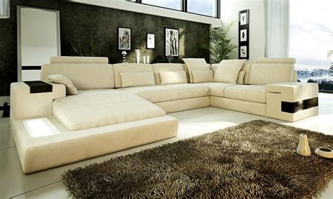 Wide Seat Sofa by New Wide Seat Corner Leather Sofa In Living