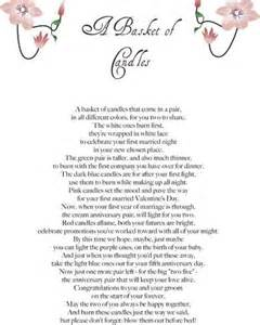 wedding shower poems for gifts 15 best images about diy wedding candle basket ideas on