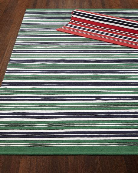 Ralph Lauren Home Racing Point Stripe Indoor Outdoor Rug Outdoor Cing Rugs