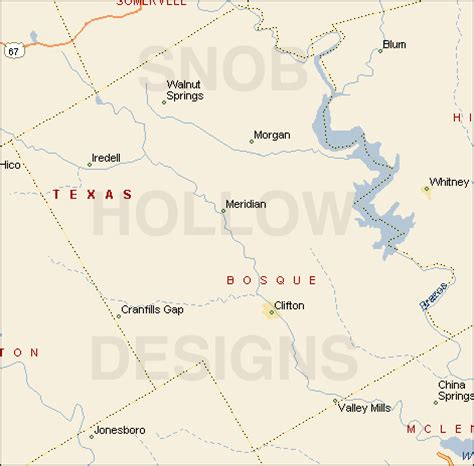bosque county texas map bosque county texas color map