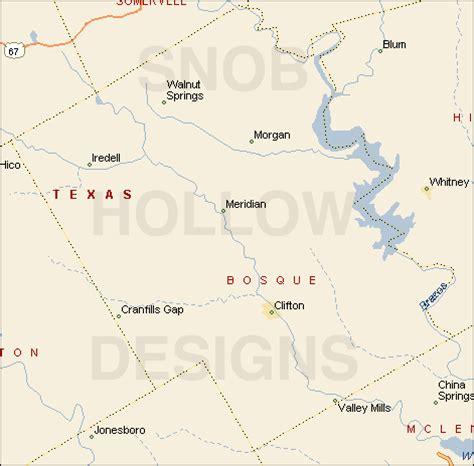bosque county texas color map