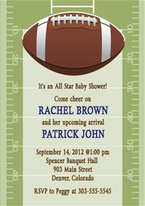 Free Football Baby Shower Invitations by 1000 Images About Baby Shower Ideas On
