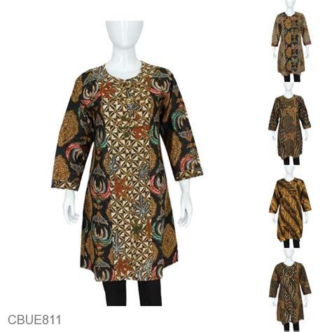 Tunik Batik Motif atasan tunik batik koin motif lawasan blus lengan
