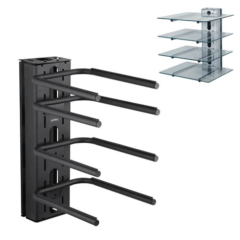 Component Shelf Wall Mount by Peerless 4 Shelf Component Wall Mount For Av Components Pm610