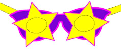 printable star glasses paper craft masks star shaped eyeglasses groovy goggles