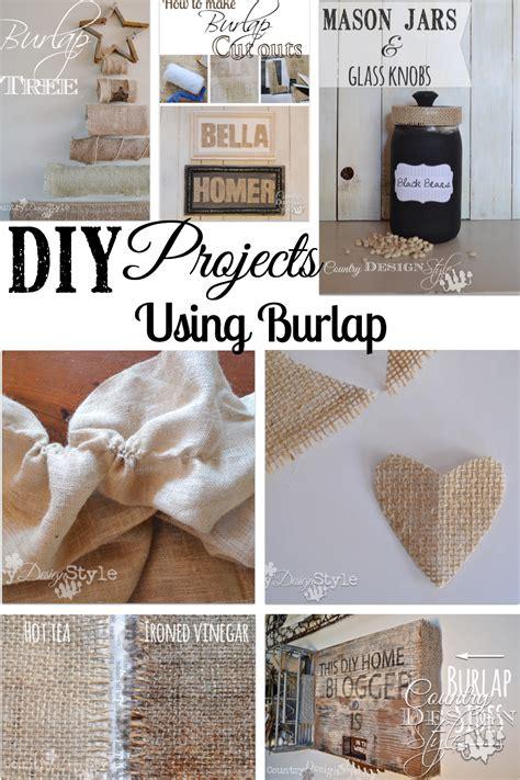 burlap diy projects burlap country design style