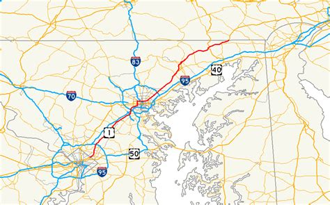 us highway one map u s route 1 in maryland