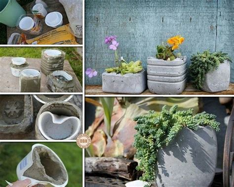 homemade flower pots homemade cement flower pots house home pinterest
