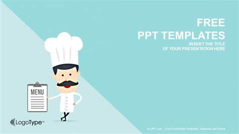 cartoon chef food powerpoint templates