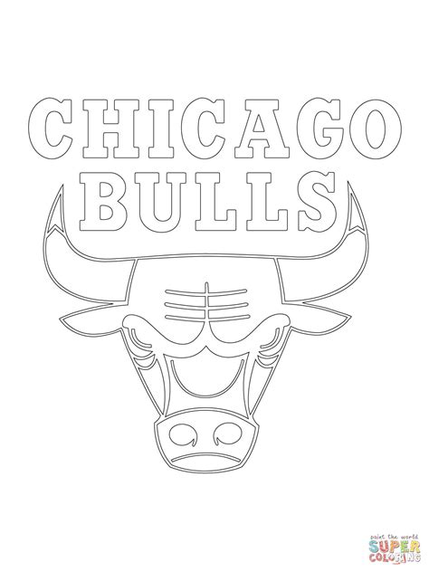 Chicago Bulls Coloring Pages Chicago Bulls Logo Coloring Page Free Printable Coloring by Chicago Bulls Coloring Pages