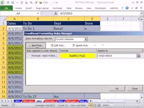 date format php list excel magic trick 902 conditionally format to do list if
