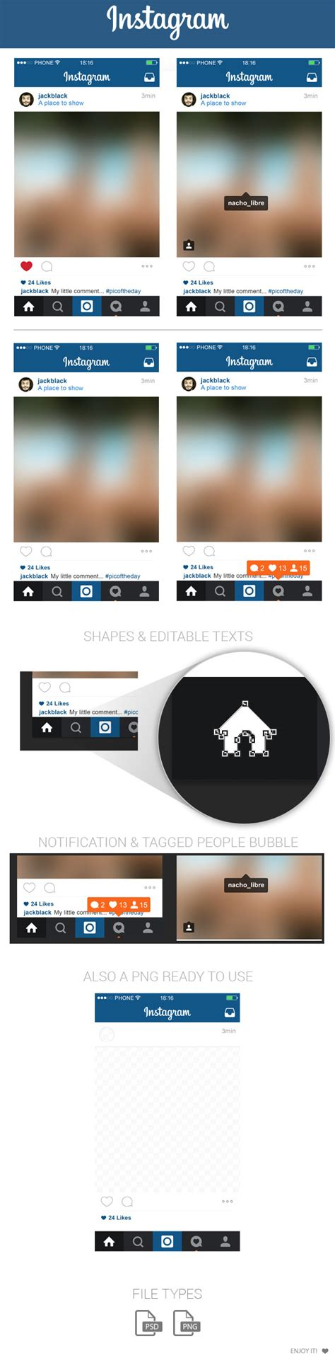 instagram screen layout free instagram home screen layout psd update 2015 on