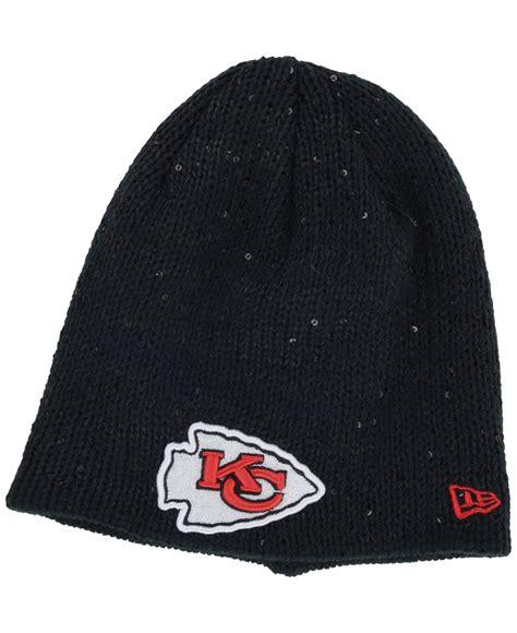 kansas city chiefs knit hat ktz s kansas city chiefs glistener knit hat in gray
