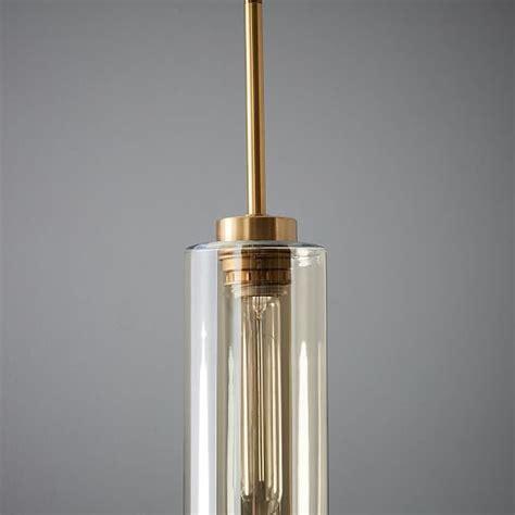 Glass Cylinder Pendant West Elm Glass Cylinder Pendant Light