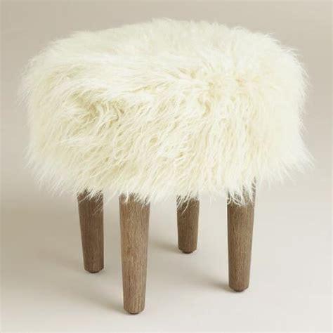 white fur ottoman target threshold faux fur foot stool white i target