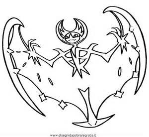 disegno pokemon lunala personaggio cartone animato da colorare
