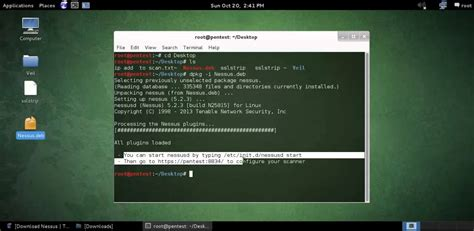 tutorial nessus linux installing nessus on kali linux youtube