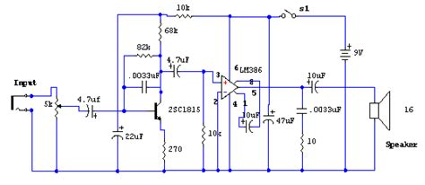 lm386 integrated circuit lifier chip signal tracer using lm386 lifier chip circuit diagram