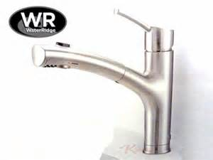 water ridge pull out kitchen faucet new waterridge brushed nickel pull out kitchen faucet