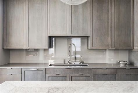 grey brown stained kitchen cabinets contemporary kitchen features gray stained cabinets paired
