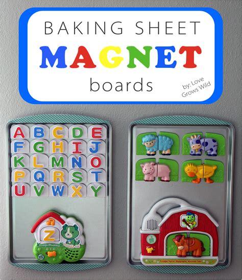 Magnet Board by Baking Sheet Magnet Boards