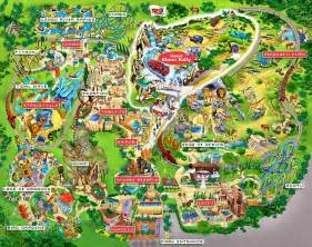 sea world florida map theme park maps
